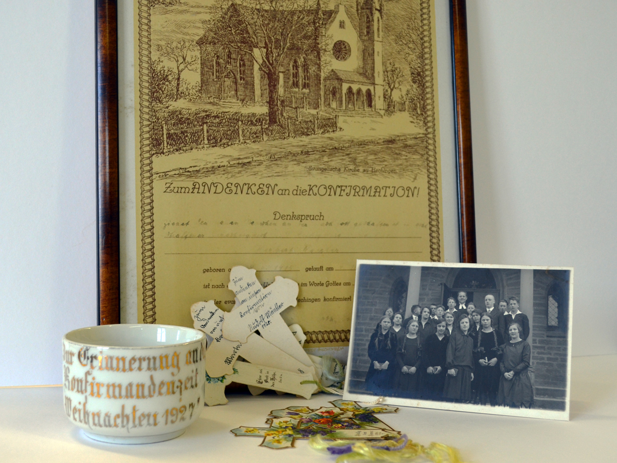 Erinnerungen an die Konfirmation 1927/28