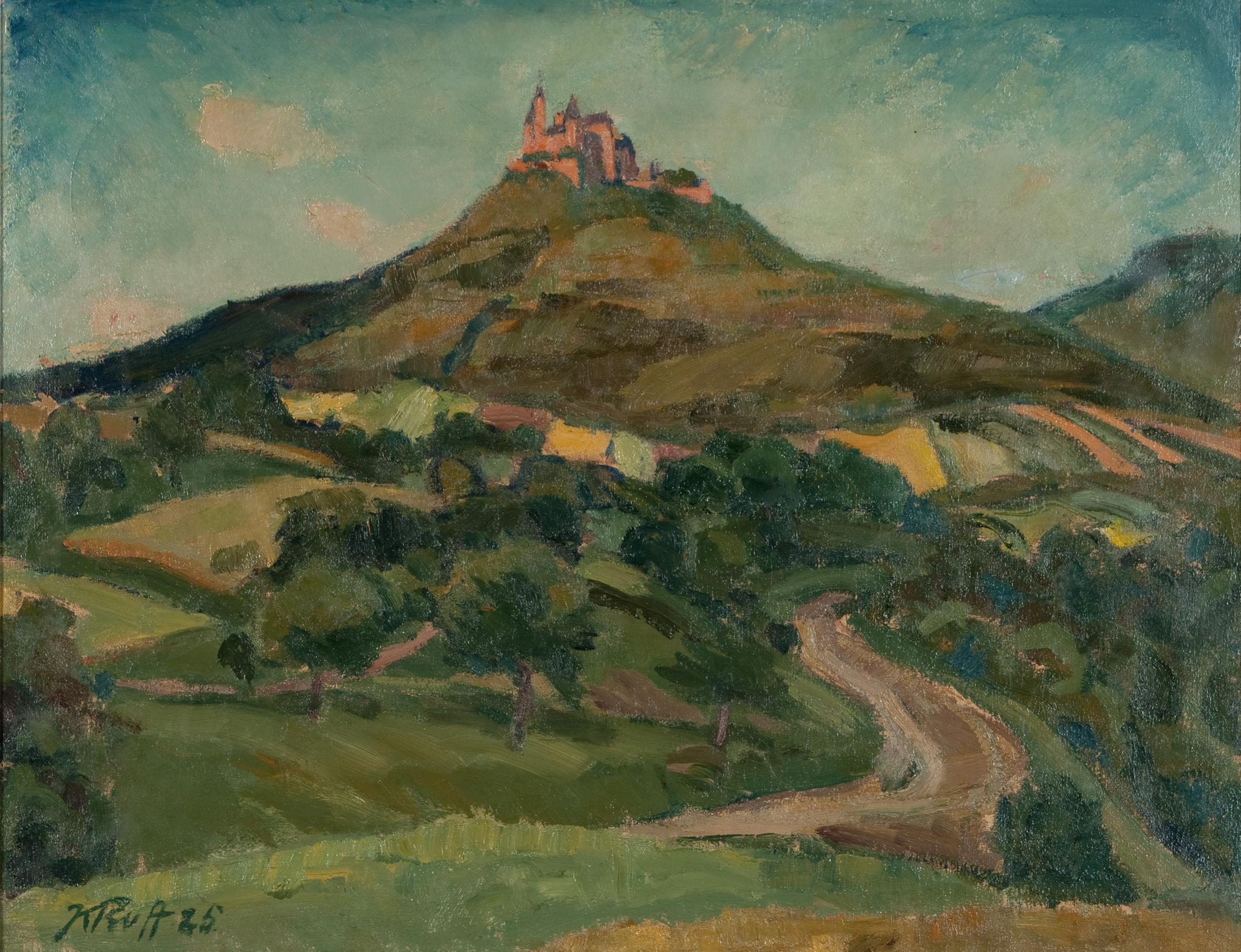 Die Burg Hohenzollern von Zimmern aus (1925)
