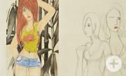 Schulkunstausstellung - Weibliche Zeichnung