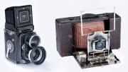 Kameras der Marken Rolleiflex und Krügener