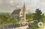 Einweihung der evangelischen Kirche in Hechingen am 19. November 1857
