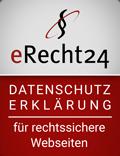 eRecht24 - Datenschutzerlärung für rechtssichere Webseiten