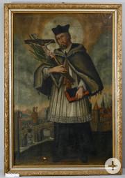 Heiliger Nepomuk Gemälde vor Restaurierung