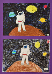 Schulkunst Astronaut