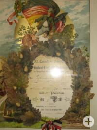 Ehrenurkunde vom Gauturnfest Zollern-Schalksburg in Haigerloch 1903