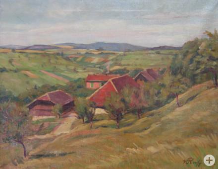 Gemälde von Konrad Ruff - Hauser Hof