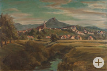 Ansicht der Stadt Hechingen (1943)