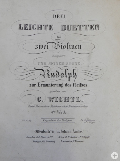 Notenbuch von Georg Wichtl